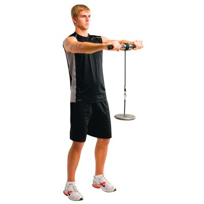 dumbell wrist roller exercise workout