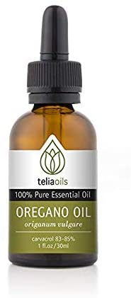 A bottle of greek oregano used for health benefit